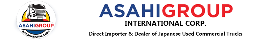 Logo of Asahi Group International Corporation: Direct importer and dealer of Japanese used cars, vans, SUV's and trucks